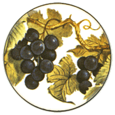 Grapes- Small Double on White
