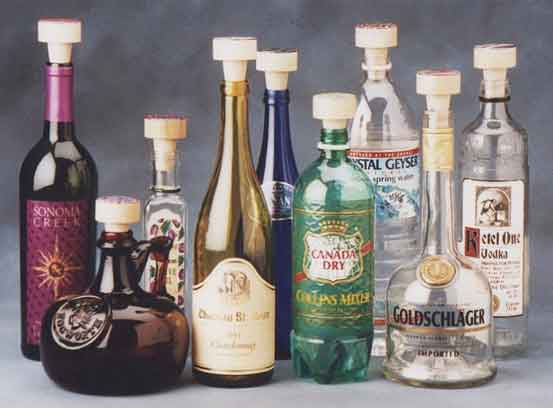 Corkers in bottles